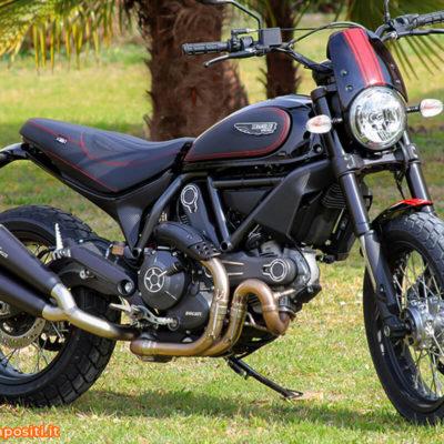 Ducati Scrambler Adattamenti vari e wrapping carbon look